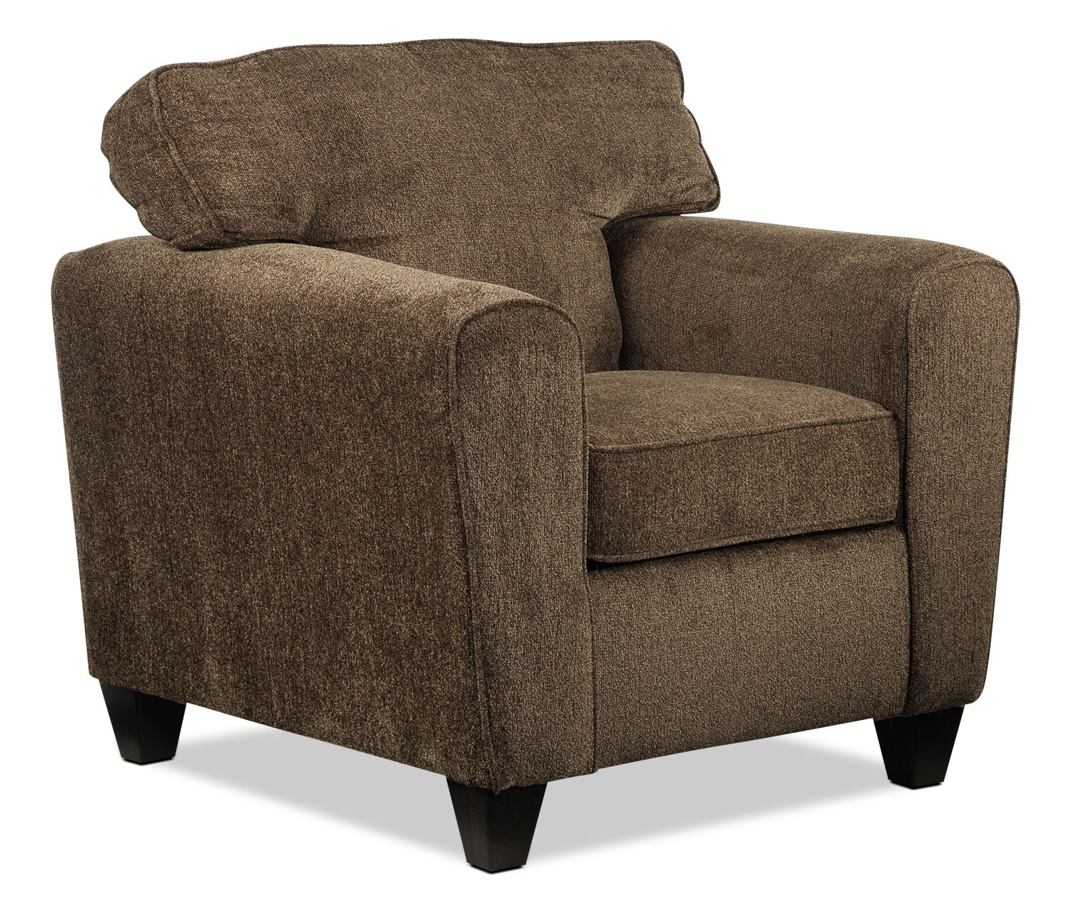 Living Room Furniture - Cornell Chair - Brown