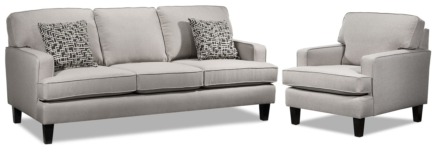 Jango Sofa and Chair Set - Taupe