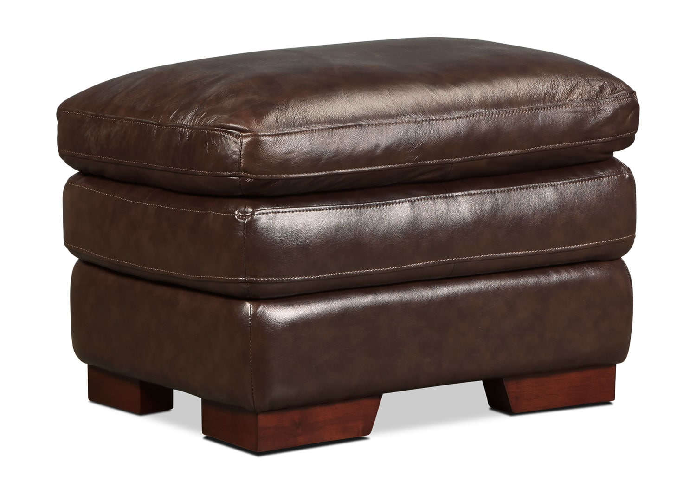 Living Room Furniture - Loren Ottoman - Oak