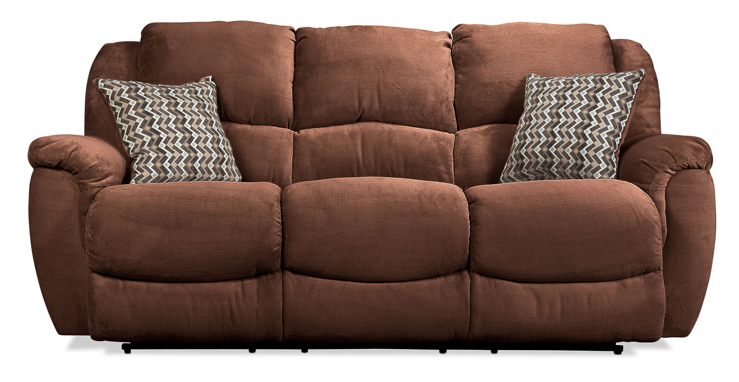Dawson Reclining Sofa - Chocolate