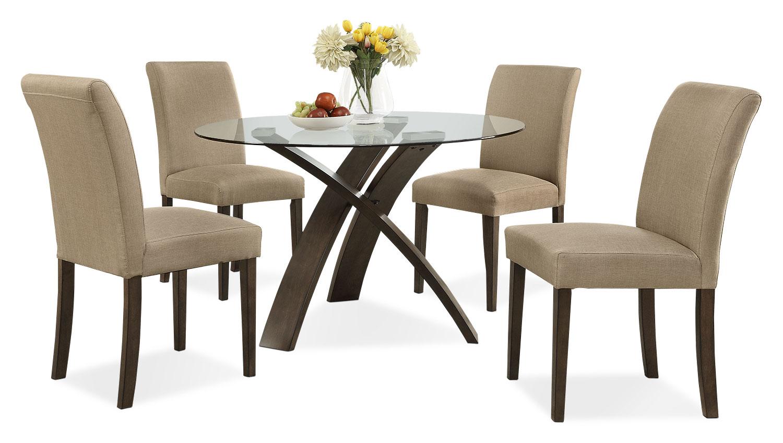 Dining Room Furniture - Skye 5-Piece Dining Package – Beige
