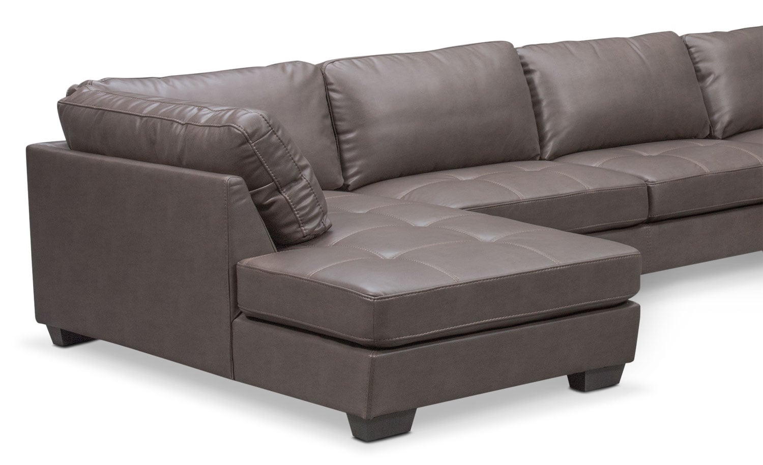 Santana 4 piece sectional with left facing chaise gray for 4 piece sectional sofa with chaise