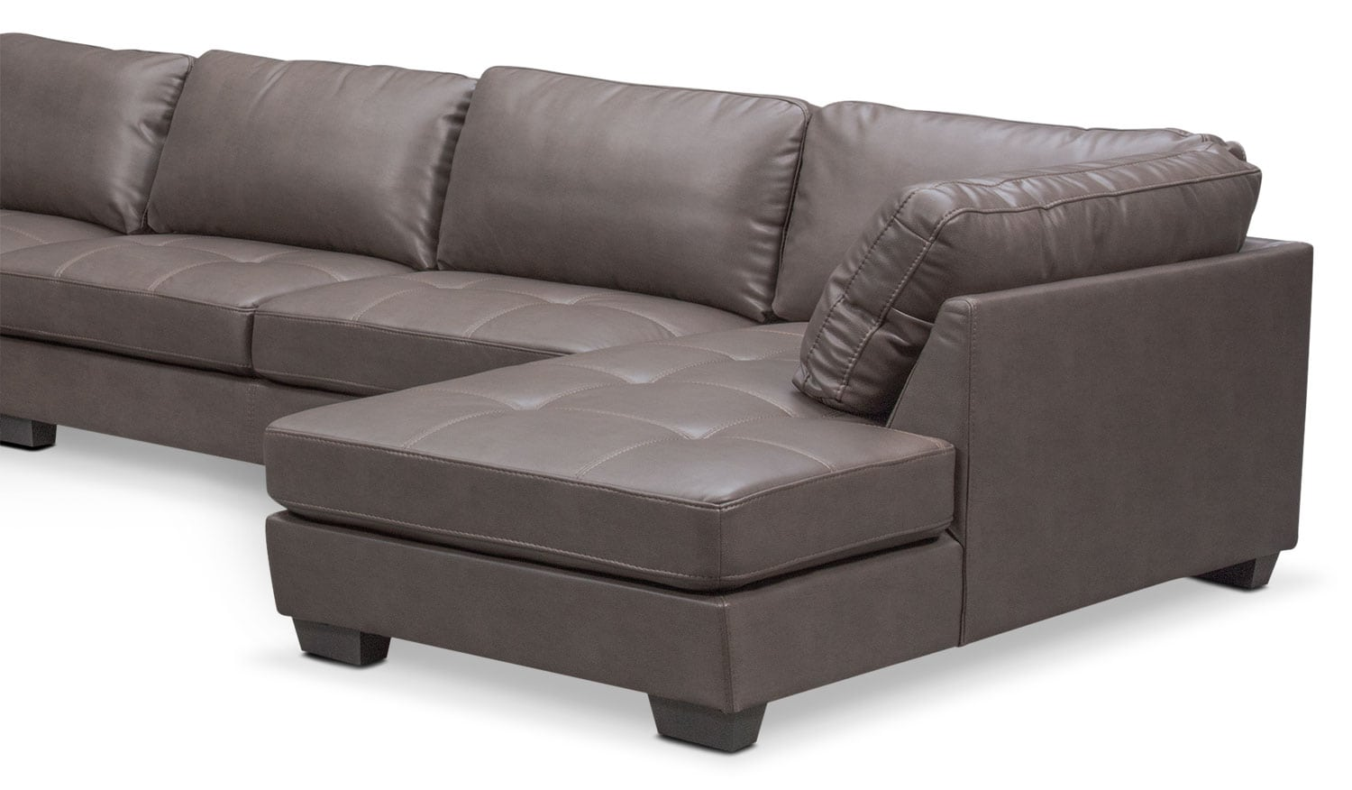 Santana 4 piece sectional with right facing chaise gray for 4 piece sectional sofa with chaise