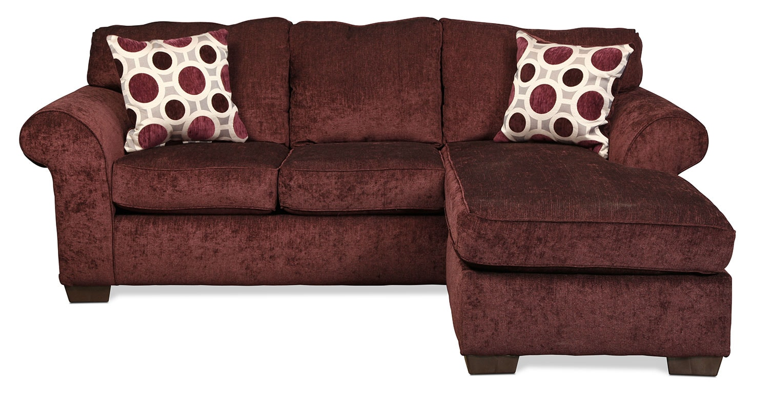 Living Room Furniture - Roseville Reversible Chaise Sofa - Elderberry