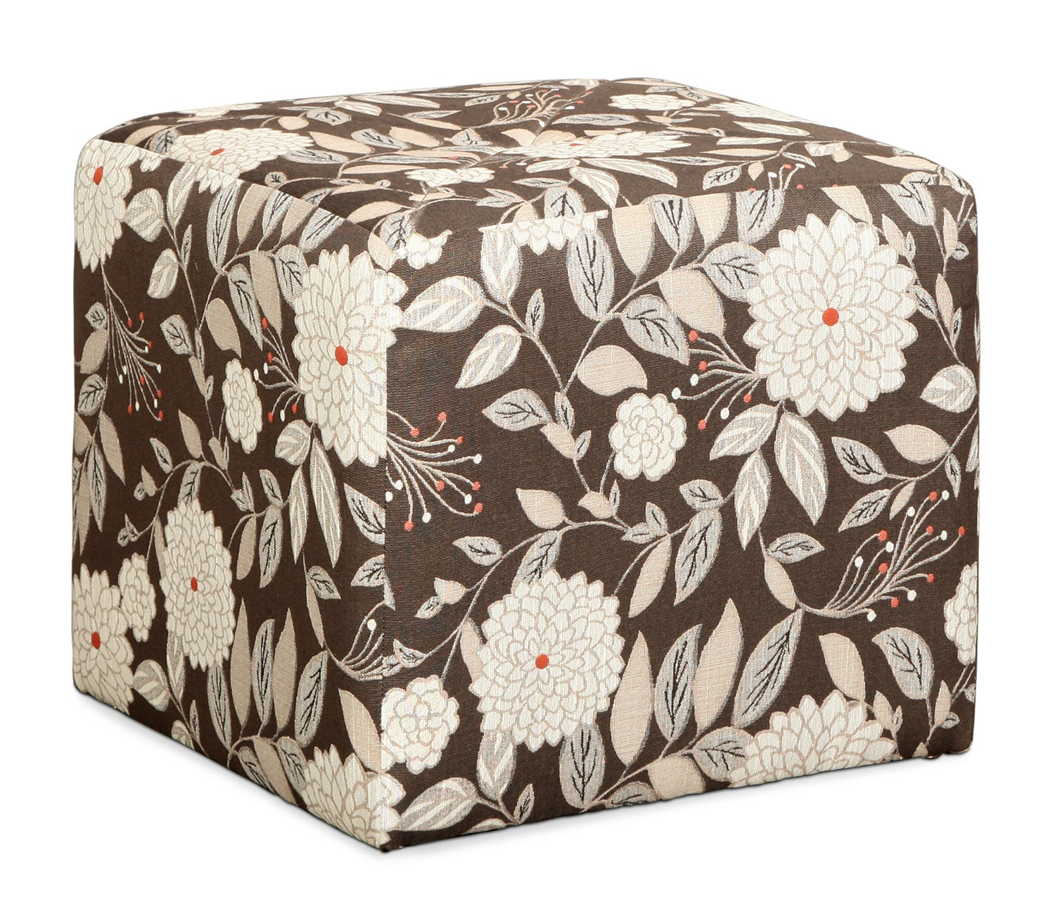Harding Cube Ottoman - Floral