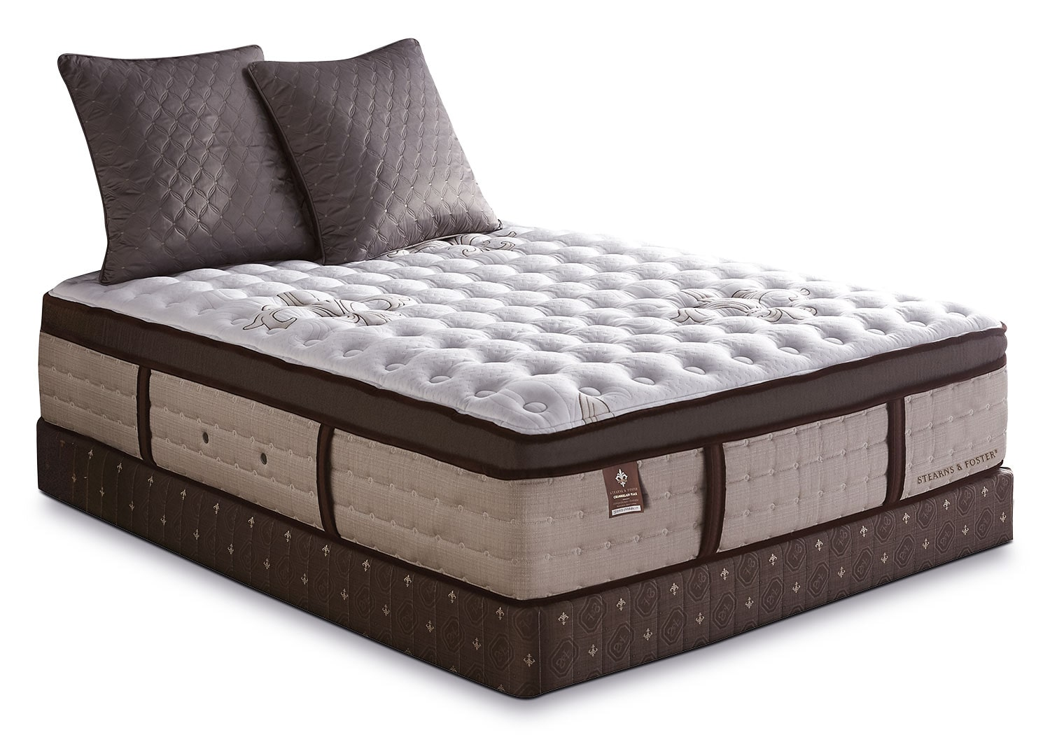 Mattresses and Bedding - Stearns & Foster Chamberlain Place Euro-Top Plush Queen Mattress Set