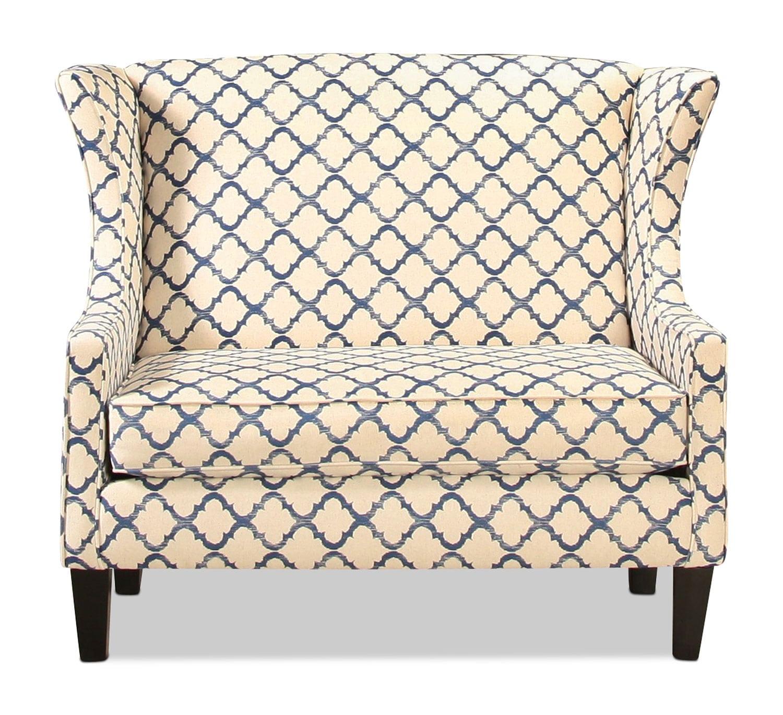 Living Room Furniture - Manhasset Settee - Indigo