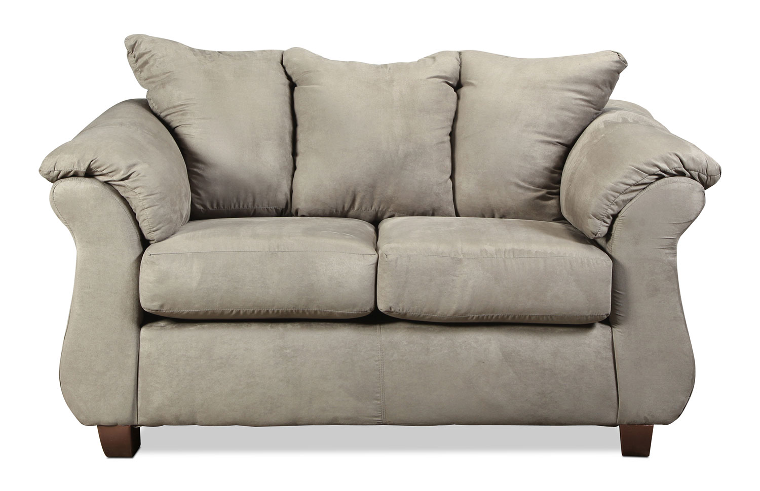 Living Room Furniture - Manhattan Loveseat - Grey