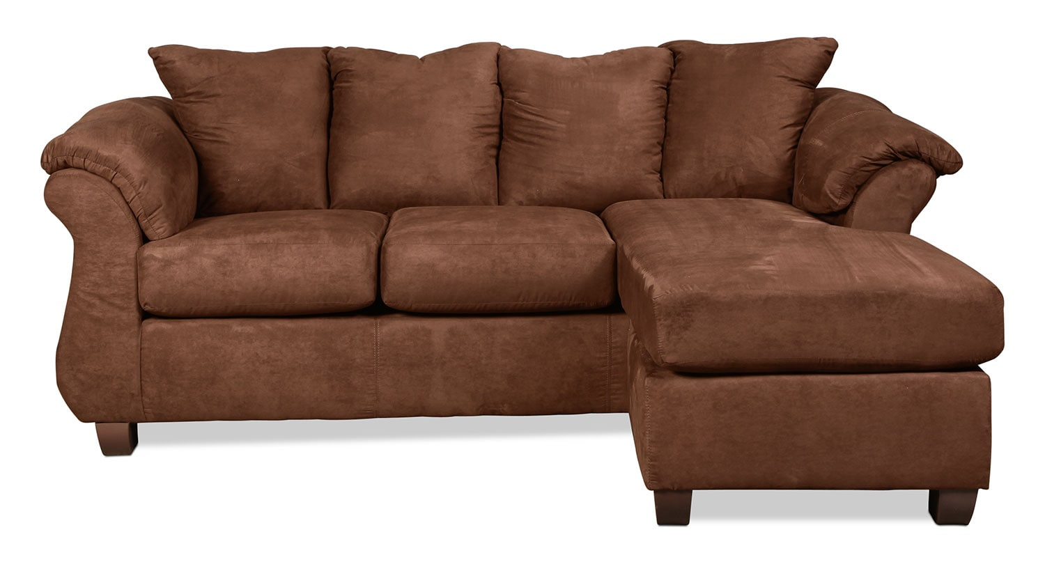 Manhattan Reversible Chaise Sofa - Chocolate