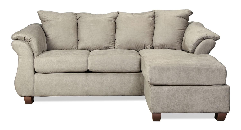 Living Room Furniture - Manhattan Reversible Chaise Sofa - Grey