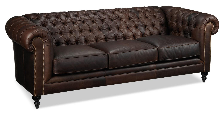 Living Room Furniture - Charleston Sofa - Brown