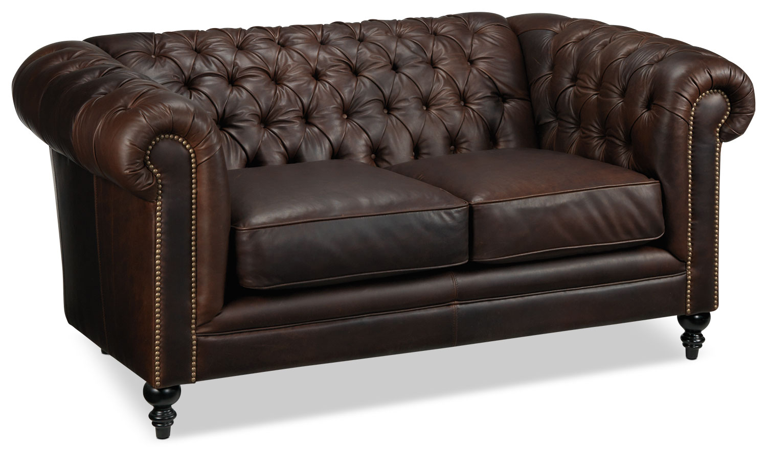 Living Room Furniture - Charleston Loveseat - Brown