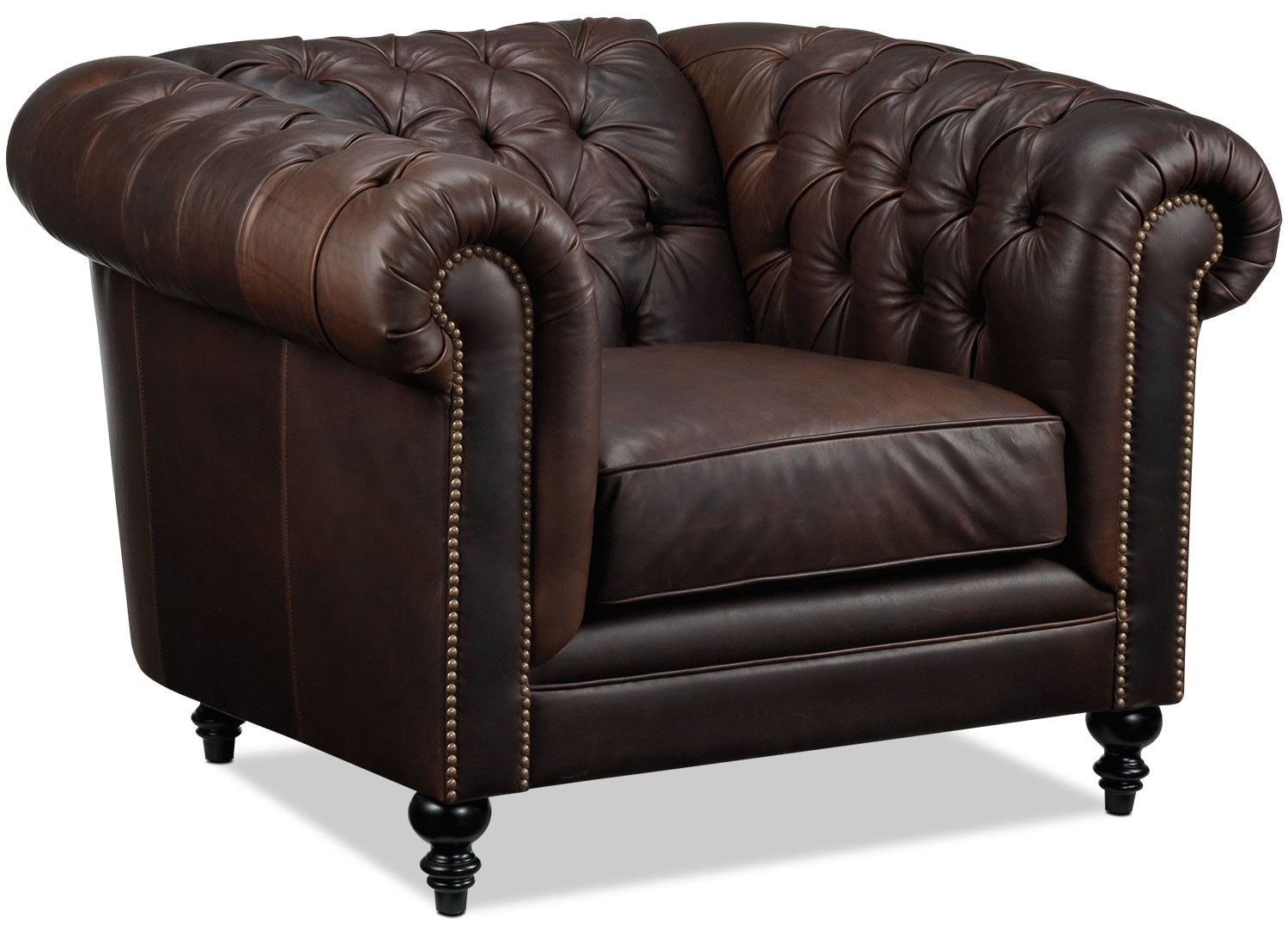 Living Room Furniture - Charleston Chair - Brown