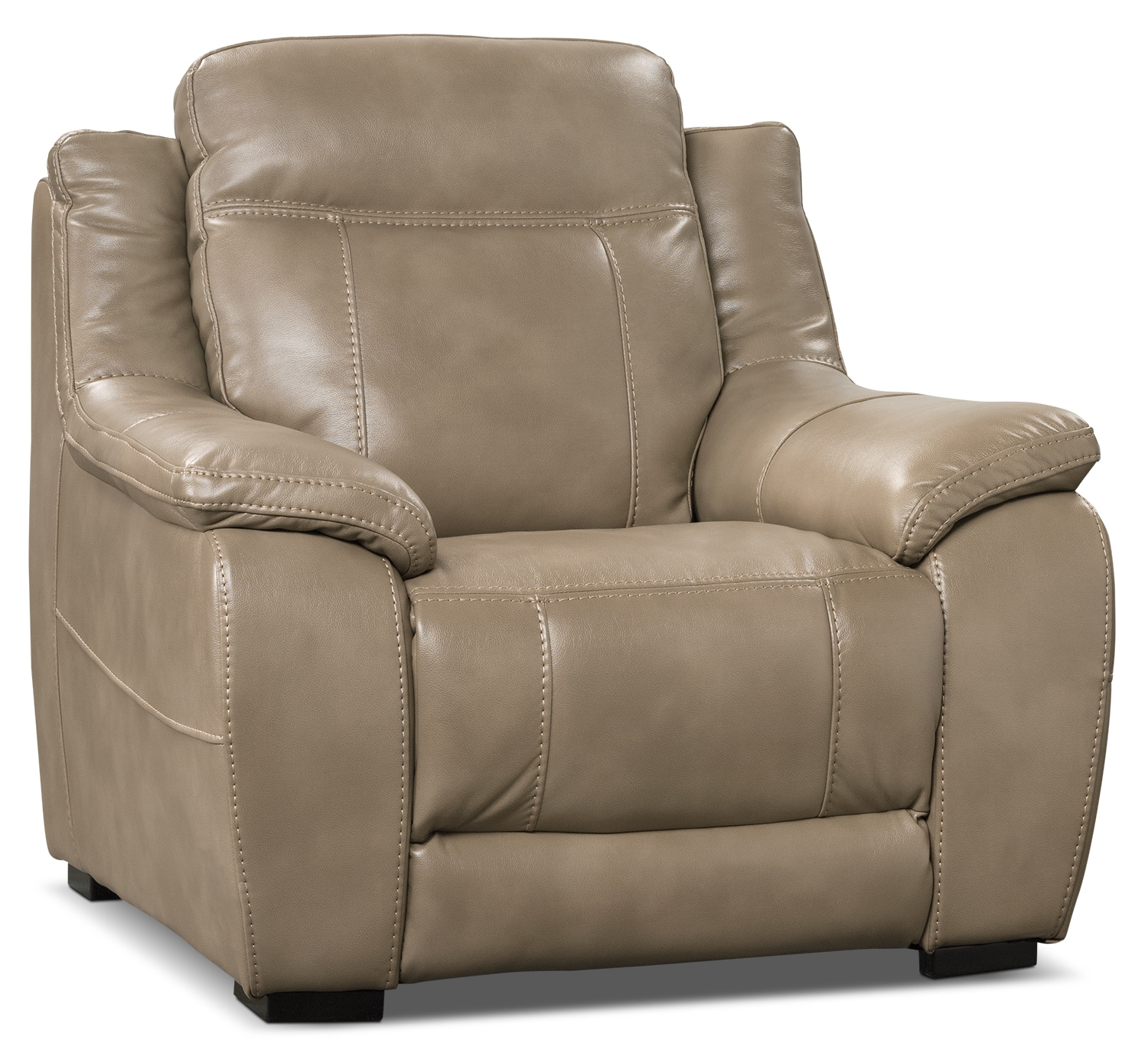 Novo Leather-Look Fabric Chair – Taupe