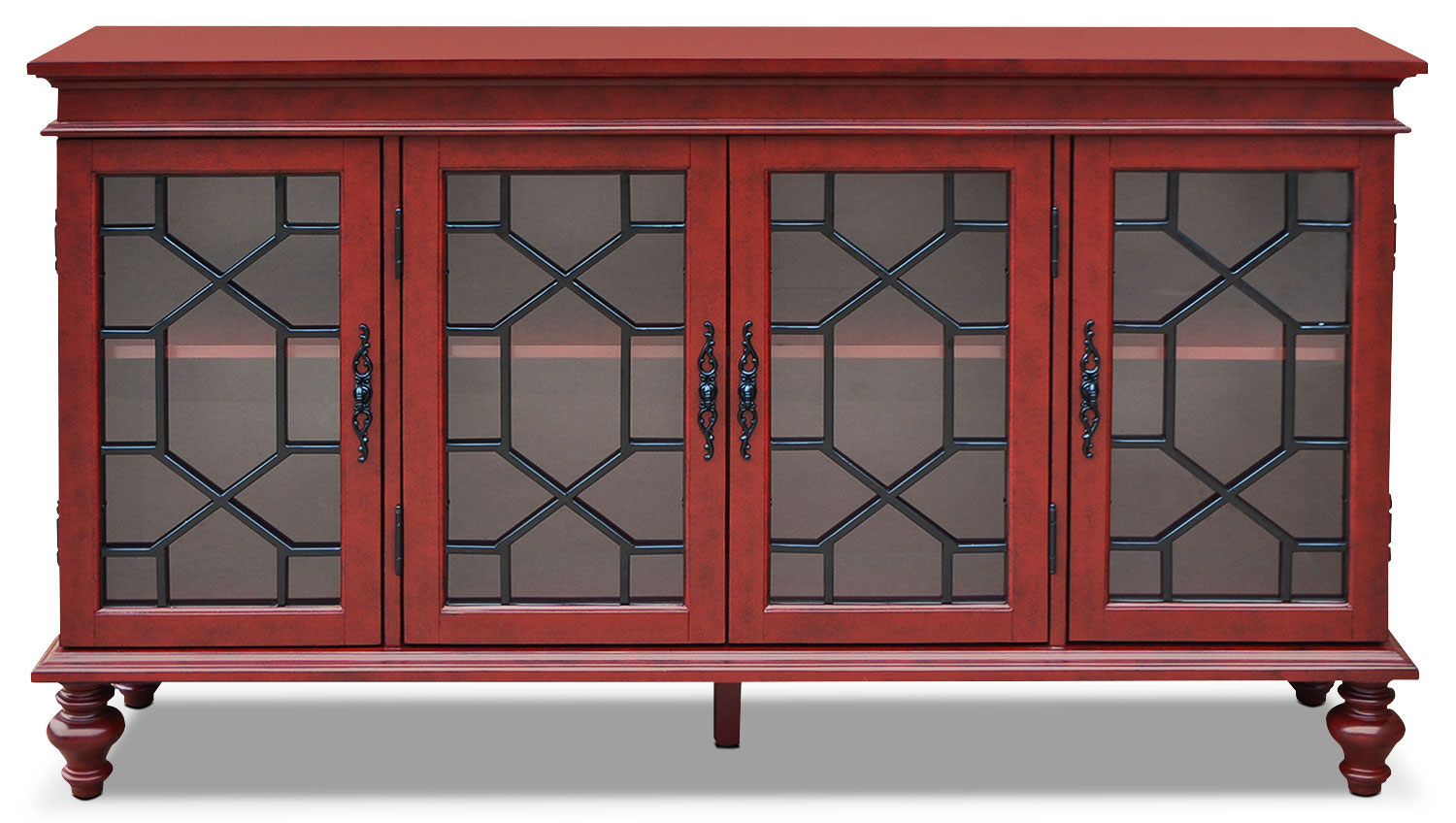 Accent and Occasional Furniture - Rigolet Large Accent Cabinet – Red
