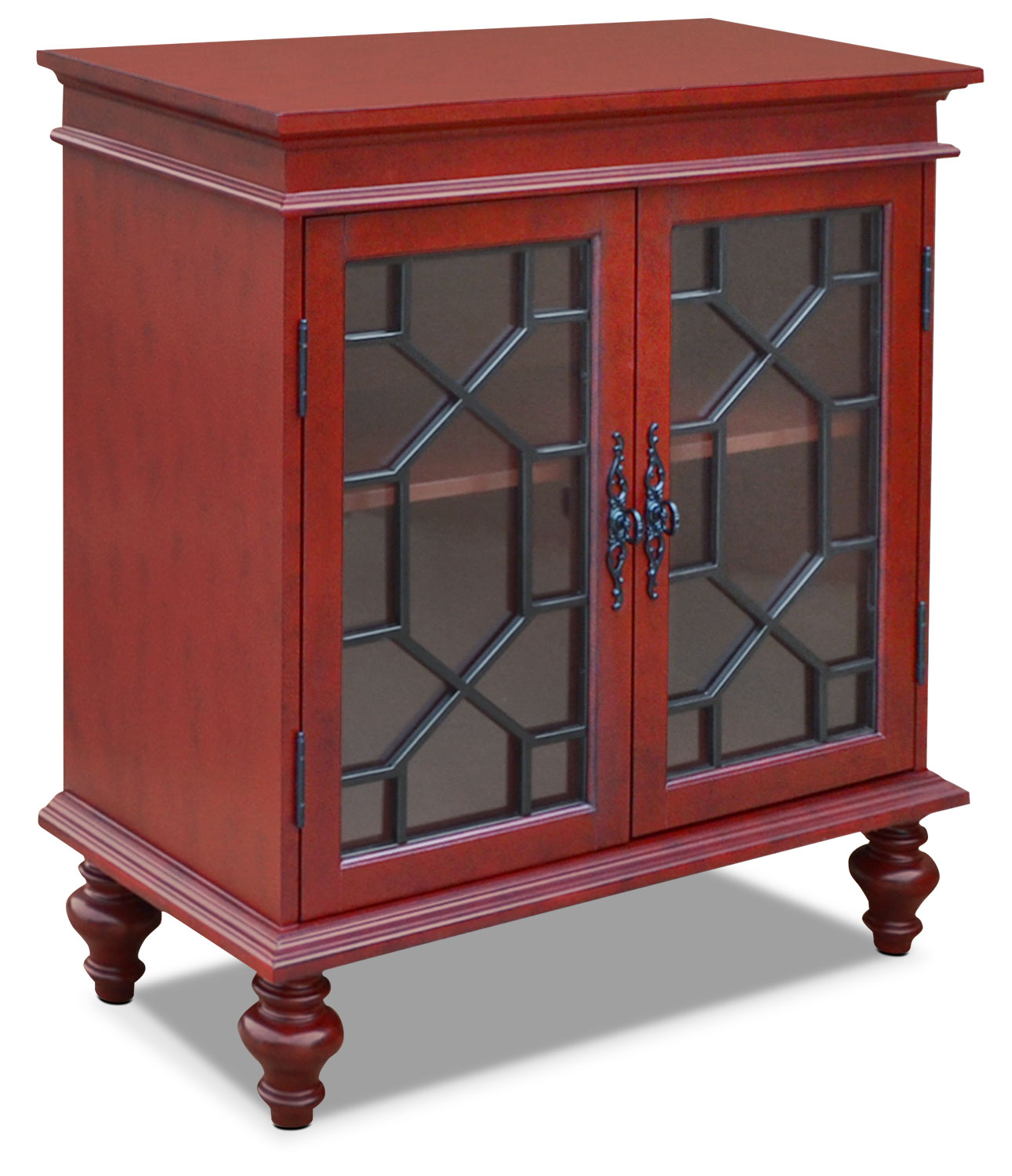 Rigolet small accent cabinet red the brick for Petite table decorative