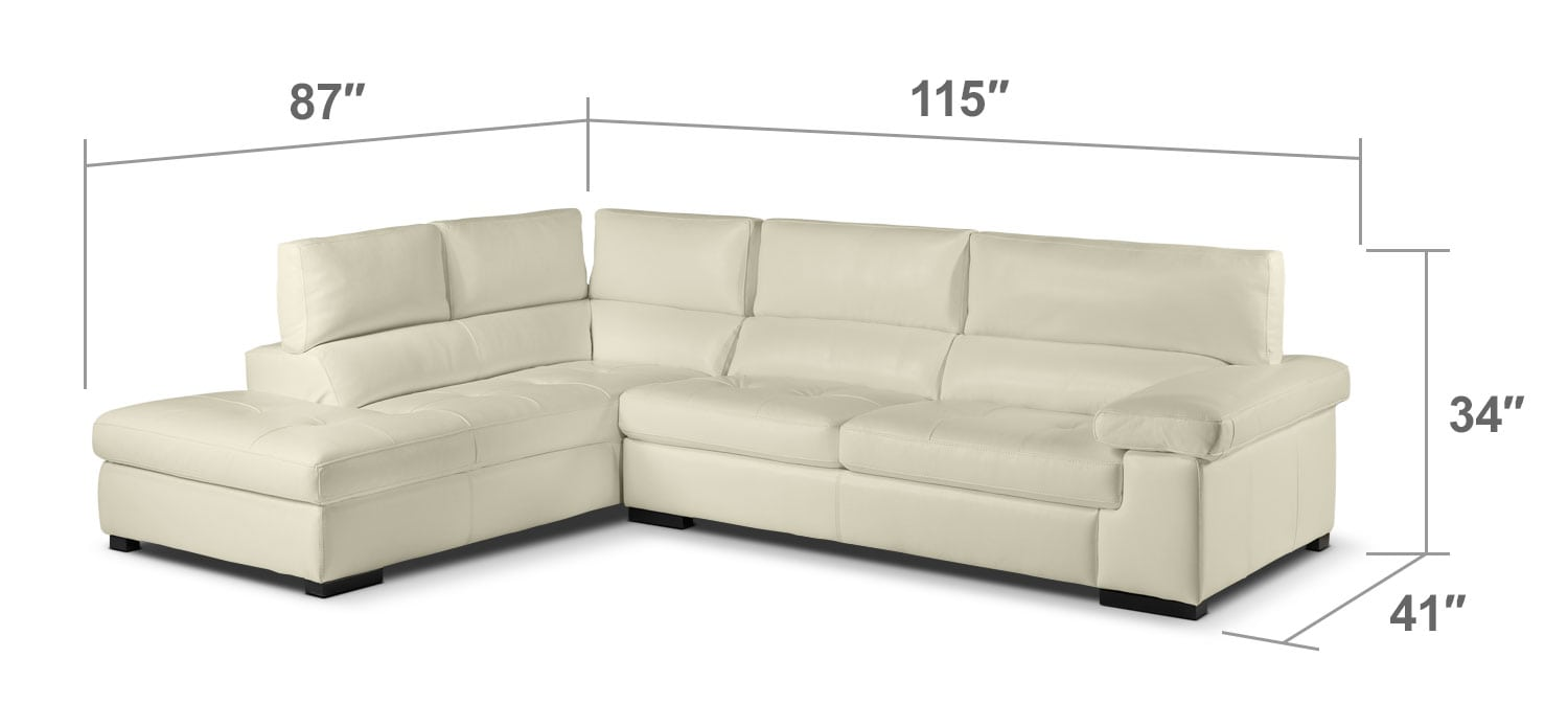 Living Room Furniture - Underwood 2-Piece Left-Facing Sectional - Bisque