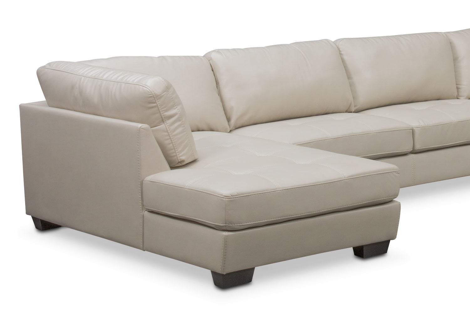Santana 4 piece sectional with left facing chaise ivory for 4 piece sectional sofa with chaise