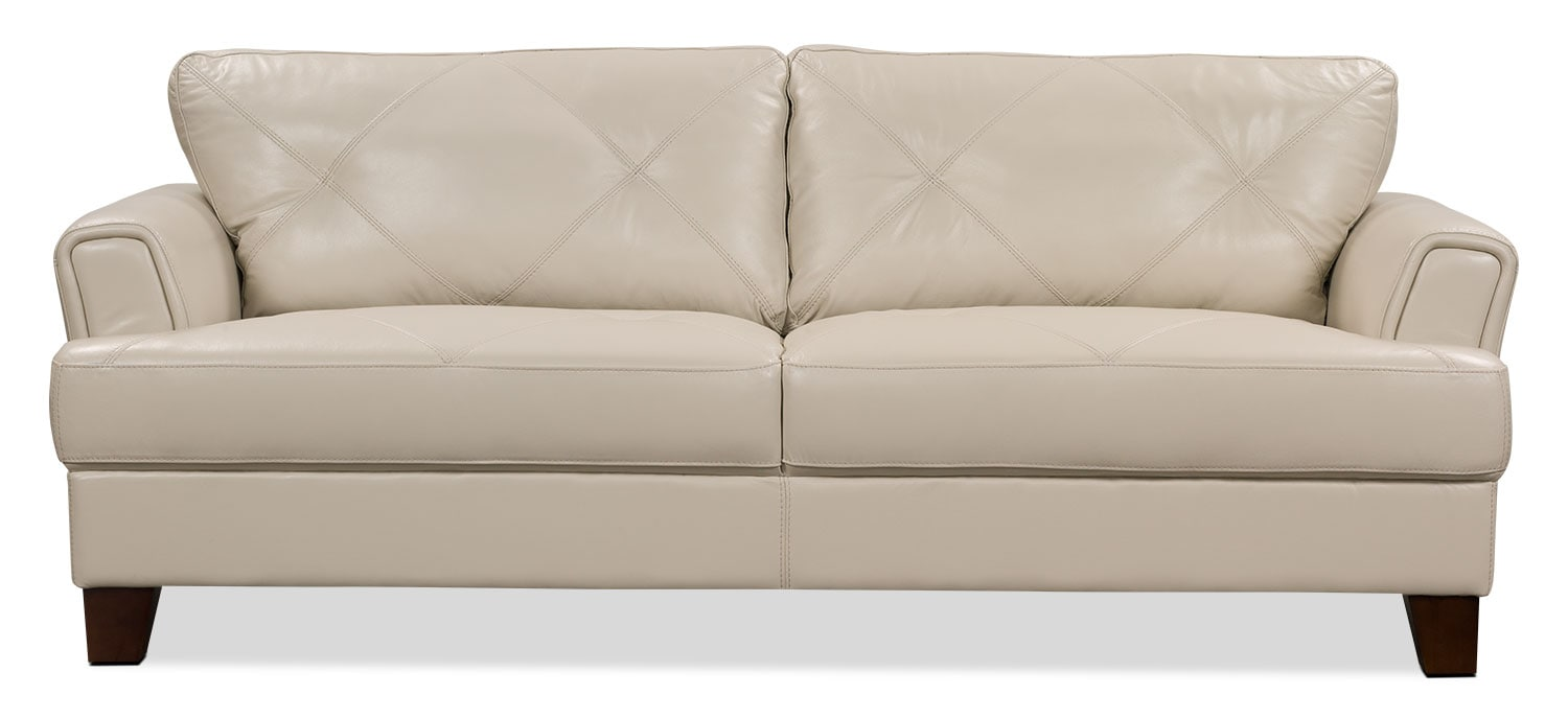 Vita 2 piece 100 genuine leather left facing sectional for Sectional sofas 100 leather
