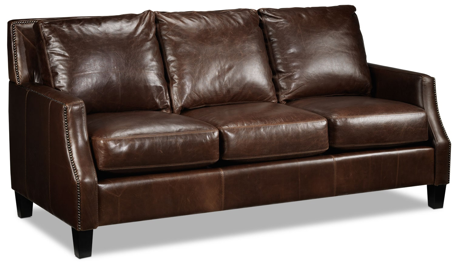 Living Room Furniture - Dallas Sofa - Brown