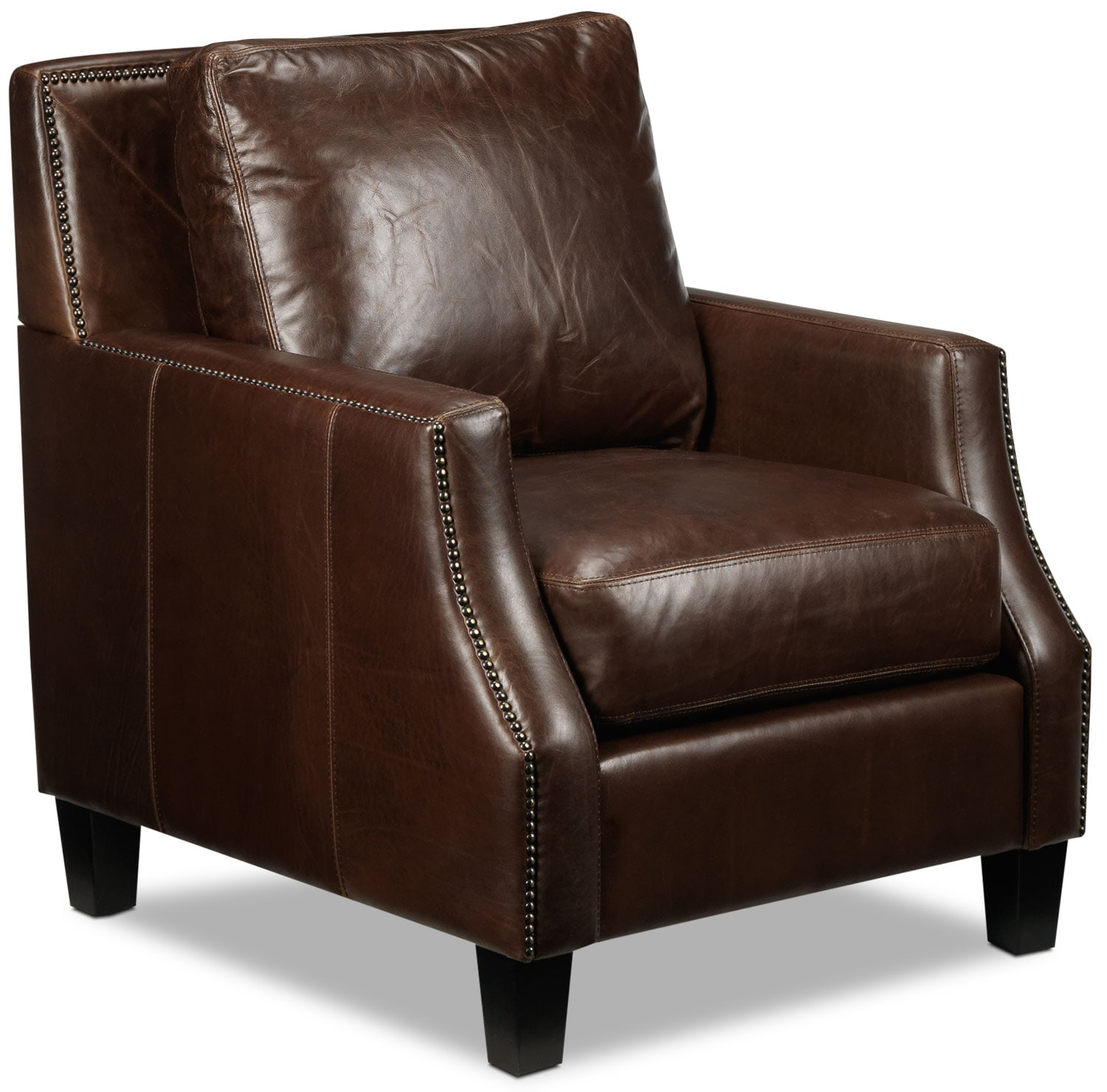 Living Room Furniture - Dallas Chair - Brown
