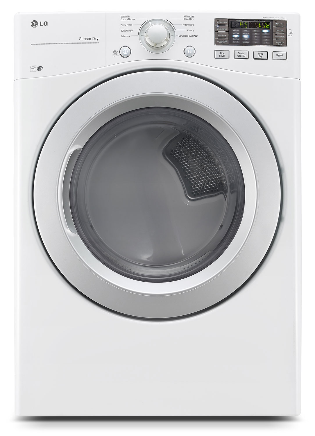 LG 7.4 Cu. Ft. Ultra-Large Capacity Electric Dryer with Sensor Dry System – White