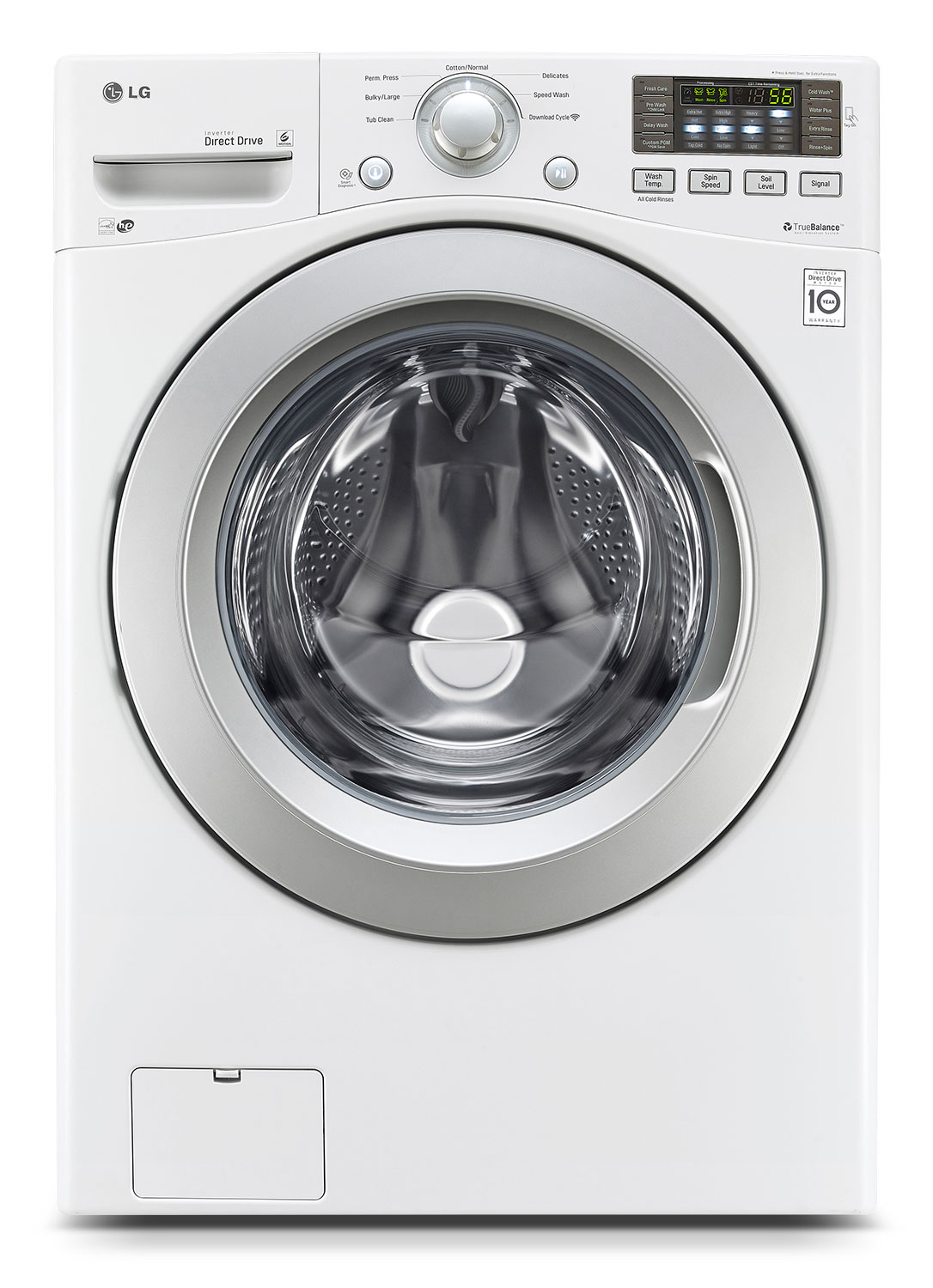 Washers and Dryers - LG Appliances White Front-Load Washer (5.2 Cu. Ft. IEC) - WM3270CW