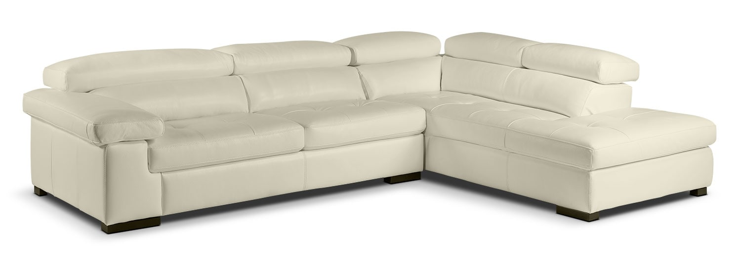 Living Room Furniture - Underwood 2-Piece Right-Facing Sectional - Bisque