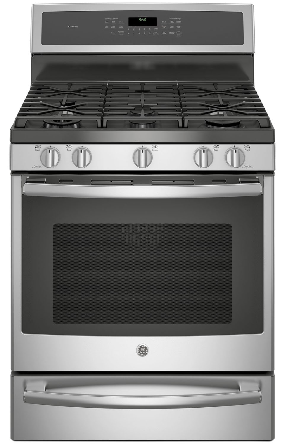GE 5.6 Cu. Ft. Freestanding Dual-Fuel Range – PC2B940SEJSS