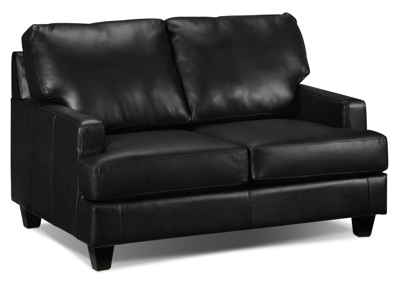 Living Room Furniture - Janie Loveseat - Black