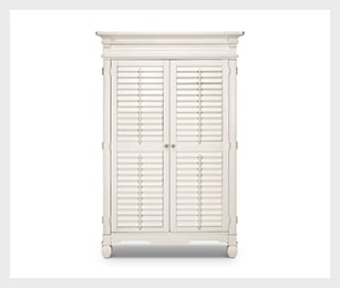 Plantation Cove white armoire