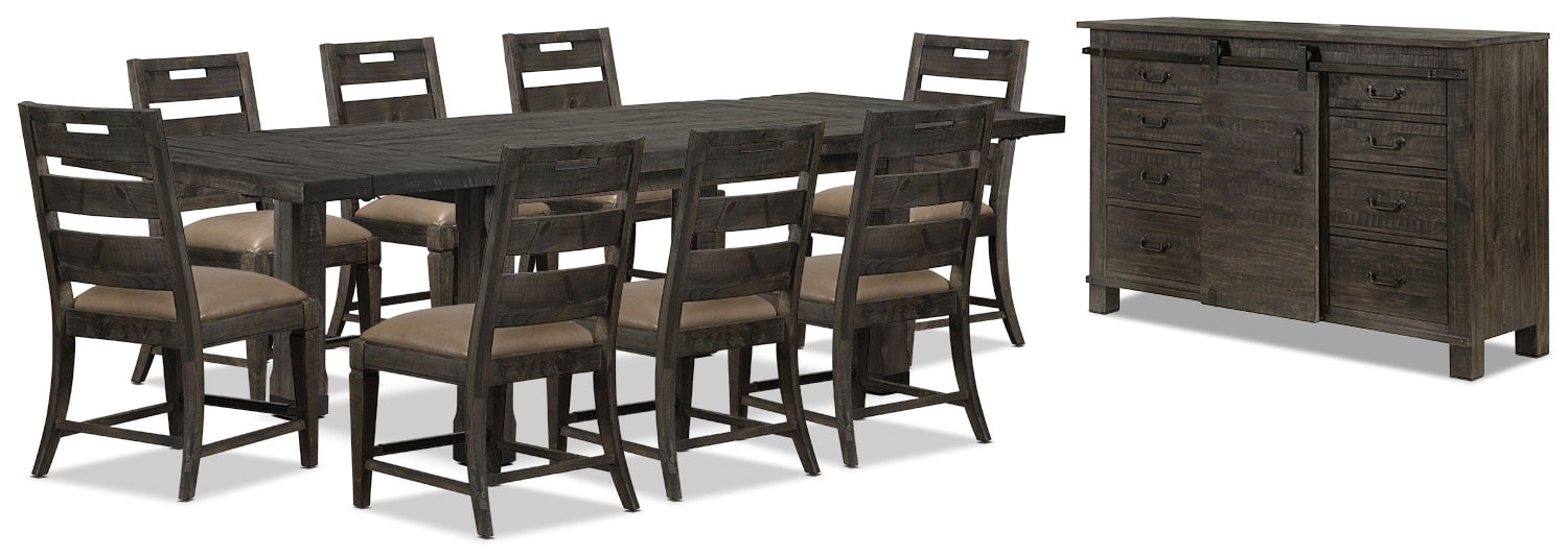 Dining Room Furniture - Calistoga 10-Piece Dining Package