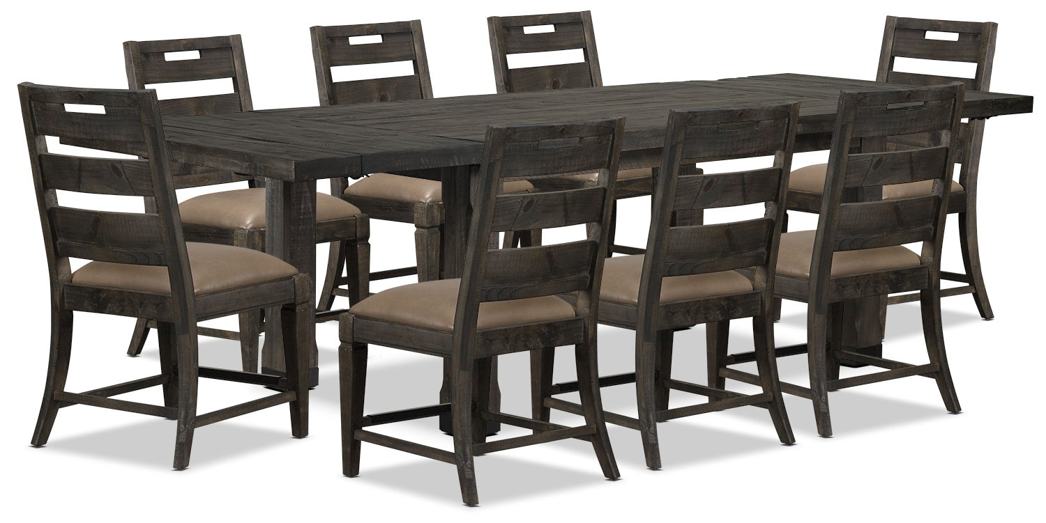 Dining Room Furniture - Calistoga 9-Piece Dining Package