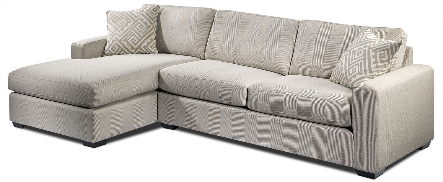Jennifer 2-Piece Left-Facing Sectional - Pebble