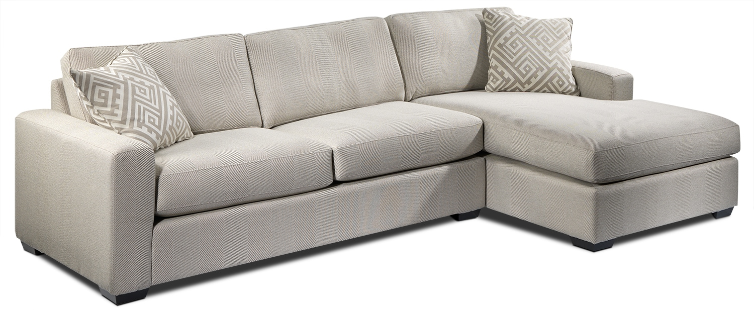 Jennifer 2-Piece Right-Facing Sectional - Pebble