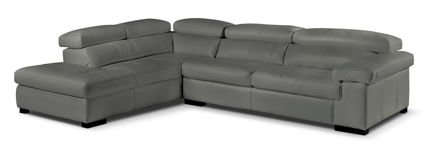 Living Room Furniture - Underwood 2-Piece Left-Facing Sectional - Charcoal