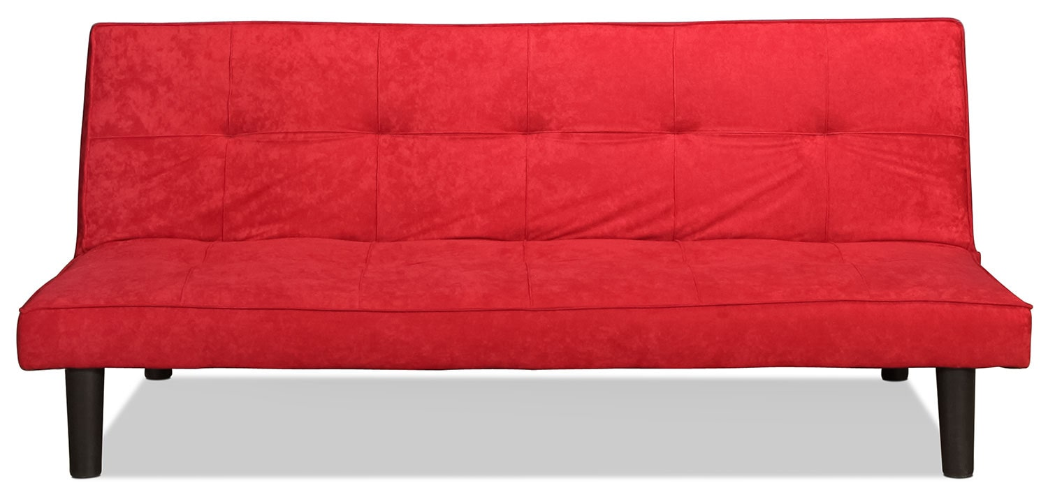 Cannes Convertible Sofa - Red