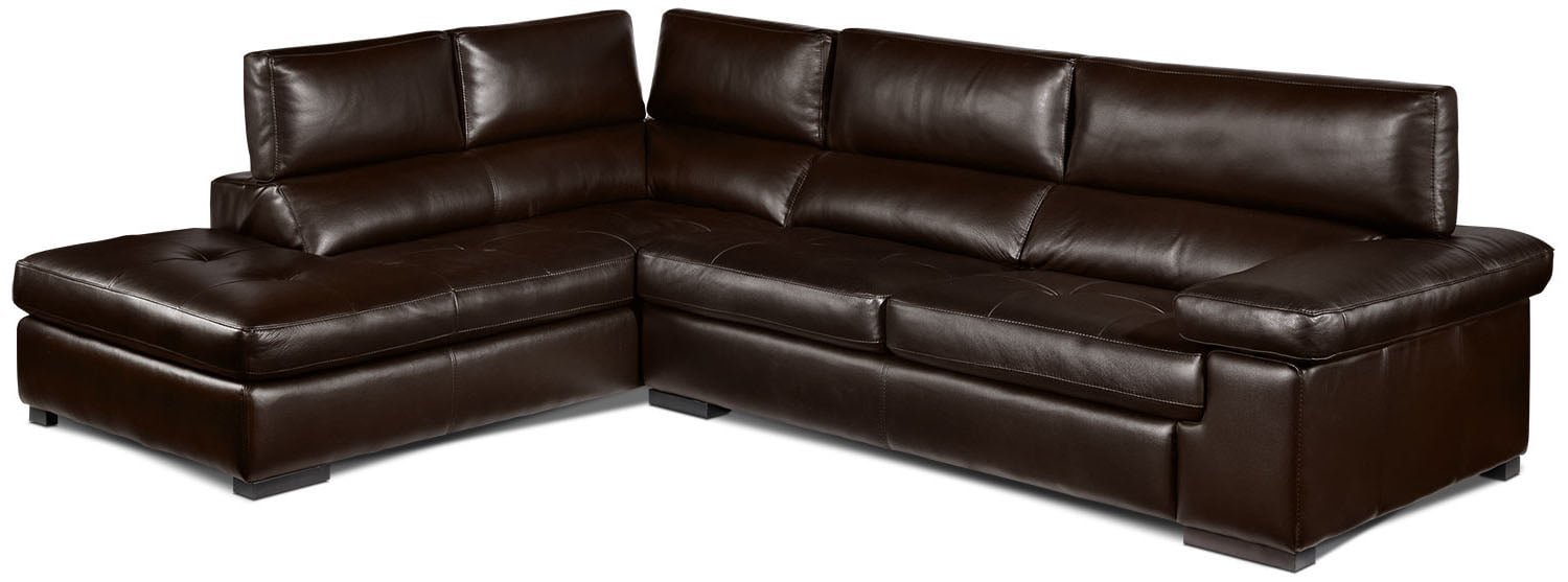 Living Room Furniture - Underwood 2-Piece Left-Facing Sectional - Espresso