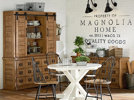 Farmhouse archive buffet and hutch - bench