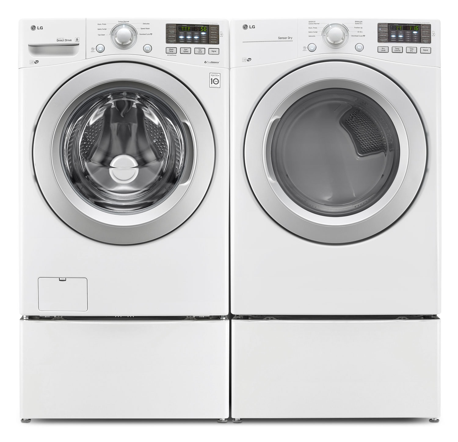 LG TWIN Wash™ 5.2 Cu. Ft. Washer, 7.4 Cu. Ft. Dryer, Pedestal Washer and Storage Pedestal