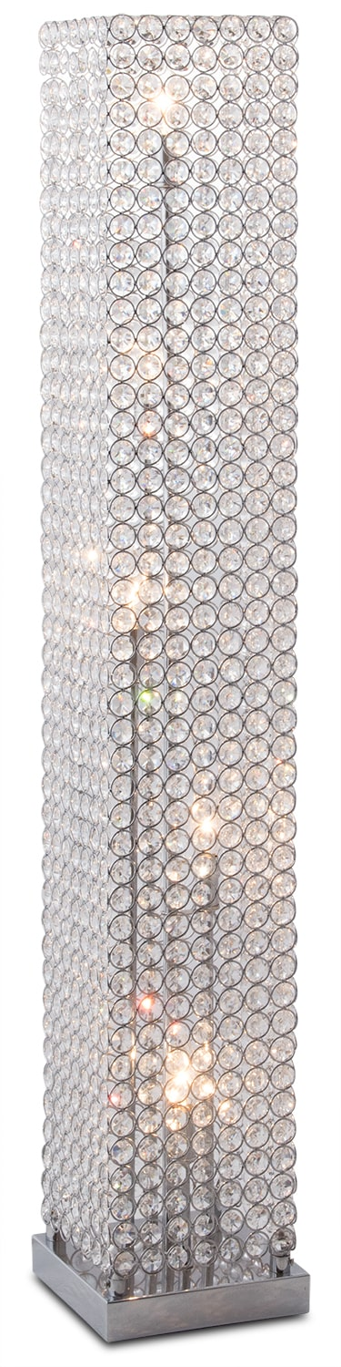 Crystal Tower Floor Lamp Value City Furniture