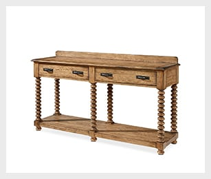 Traditional spool leg sideboard