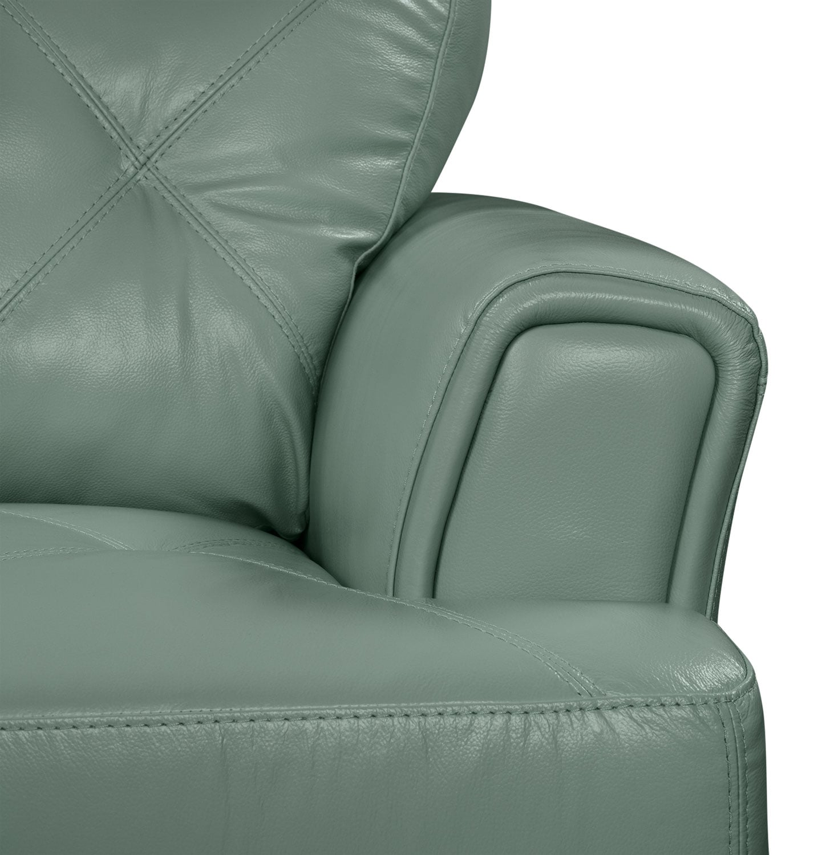 Vita 100 Genuine Leather Sofa Sea Foam The Brick