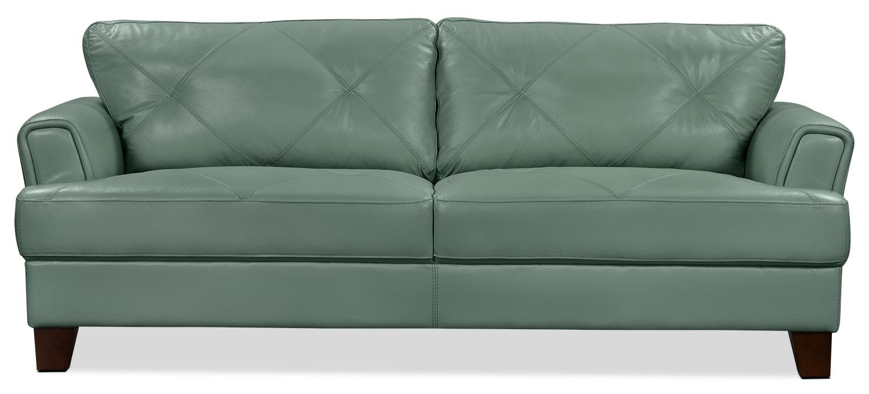 vita 100 genuine leather sofa u2013 sea foam
