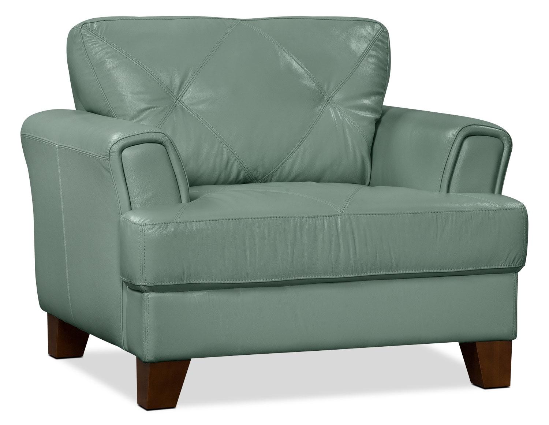 Living Room Furniture - Vita 100% Genuine Leather Chair – Sea Foam