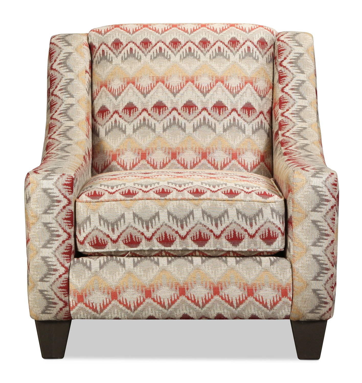 Living Room Furniture - Sarena Accent Chair - Geometric