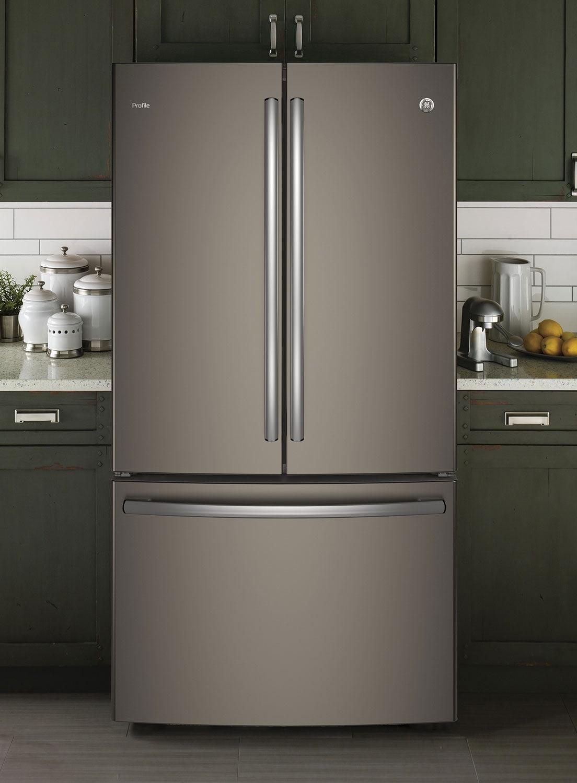 Ge 23 1 Cu Ft French Door Refrigerator With Internal