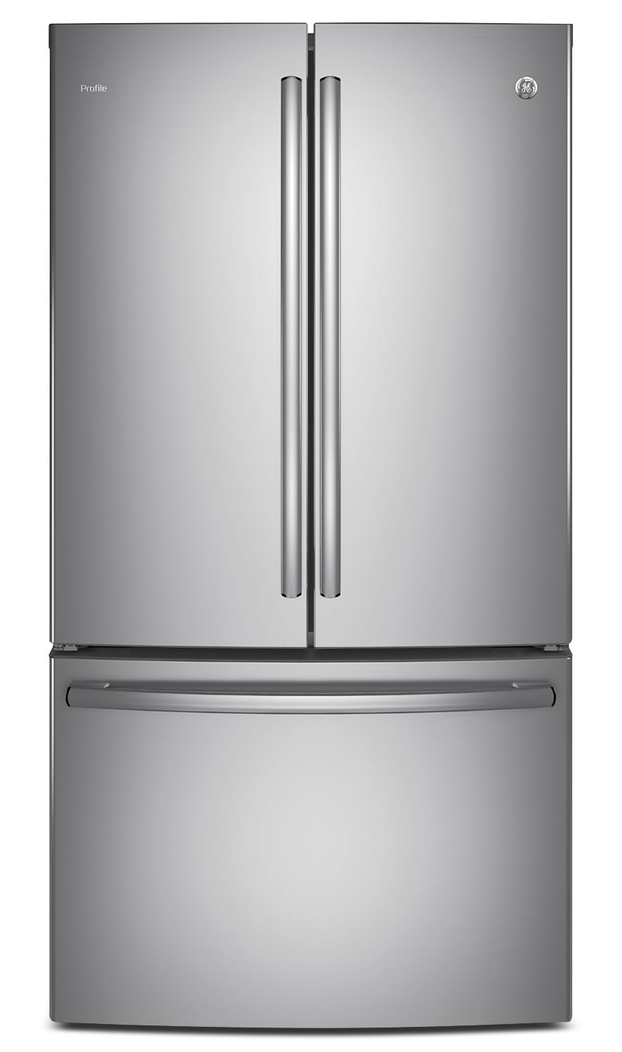 GE 23.1 Cu. Ft. French-Door Refrigerator with Internal Water Dispenser – PWE23KSKSS