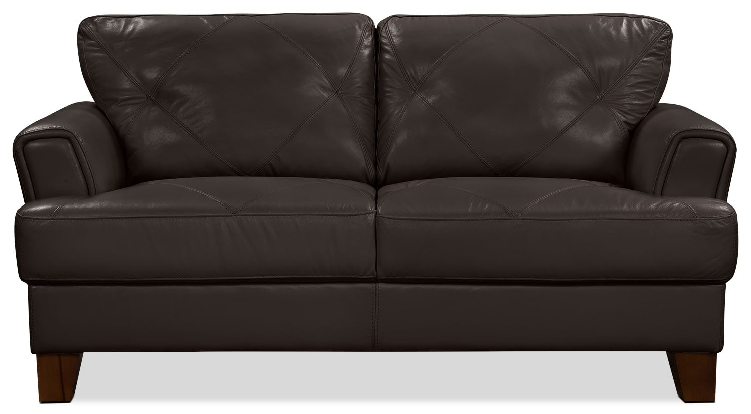 Vita 100% Genuine Leather Loveseat – Chocolate
