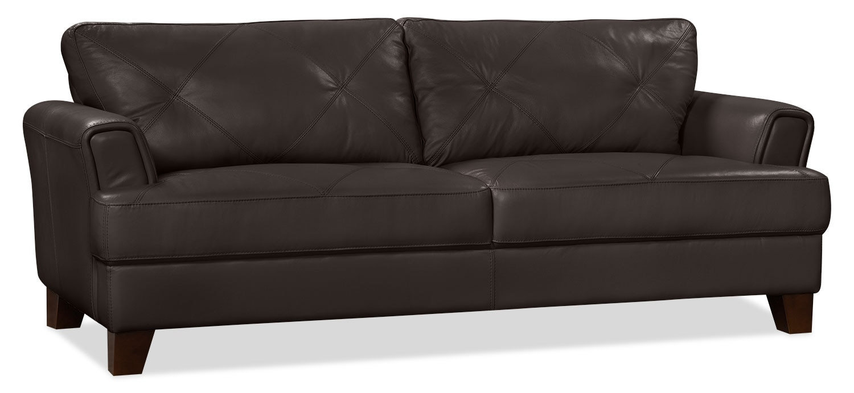 Vita 100 Genuine Leather Sofa Chocolate The Brick